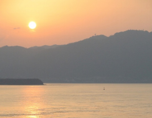 закат солнца Япония